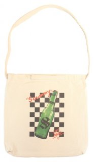CHECKER BOTTLE TOTE BAG