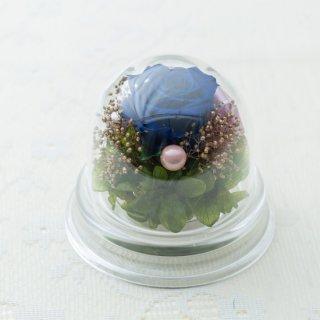 バラのアクリルプチドーム【青】