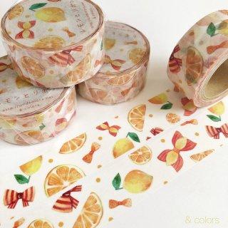 レモンとリボン マスキングテープ