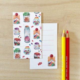 お菓子の瓶 メッセージカード