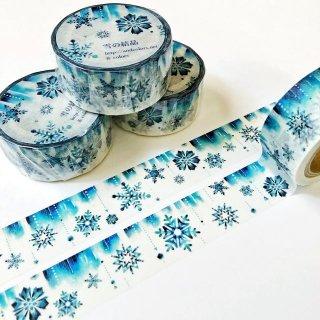 【19日22時〜】雪の結晶マスキングテープ