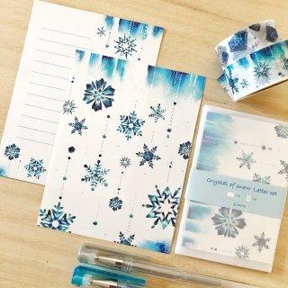 雪の結晶ミニレターセット