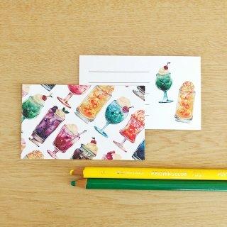 アイスフロートメッセージカード