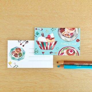 プリンアラモード メッセージカード