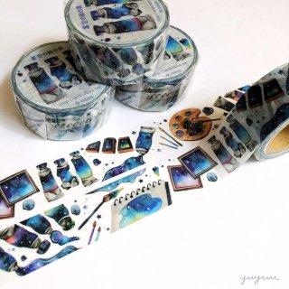 星空の絵の具マスキングテープ