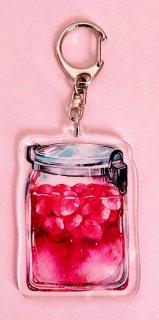 アクリルキーホルダー(果実の瓶)