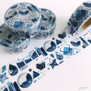 【19日22時〜】図形×星空マスキングテープ