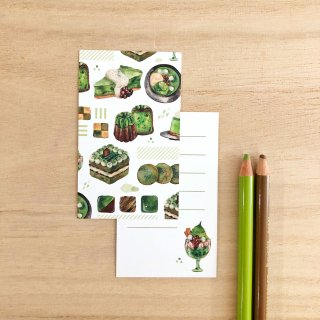 抹茶メッセージカード