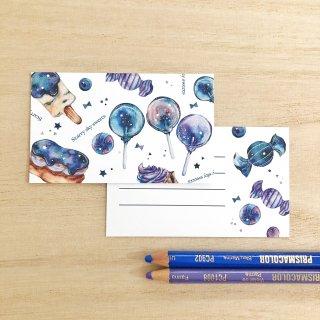 星空スイーツ メッセージカード