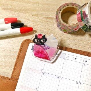 【13日22時〜】黒猫カップケーキ アクリルクリップ