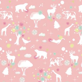シルエットアニマルpink silhouette animal_pink
