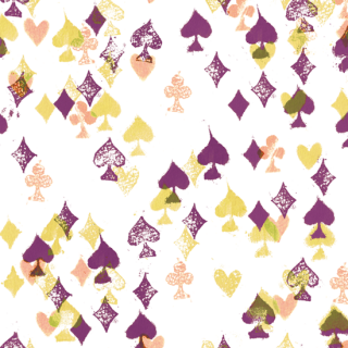 トランプred violet    cards_red violet