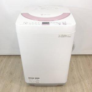 【送料無料】シャープ洗濯機2014年ES-GE60N-P【中古】
