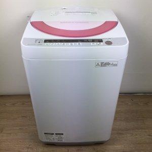 【送料無料】SHARP(シャープ)洗濯機2014年ES-GE60P-P【中古】