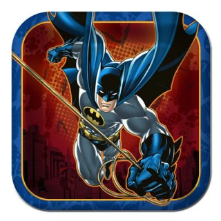 DCコミック バットマン 8pcペーパープレート Sサイズ DC COMICS