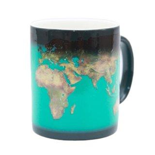 Day and Night Mug 世界地図 サーモチェンジマグ  デイ&ナイト インテリア