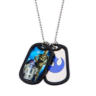 スター・ウォーズ R2-D2&C-3PO ダブルドッグタグ ペンダント ネックレス STAR WARS