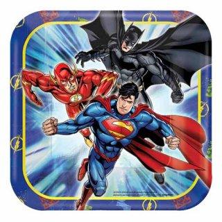 DCコミック ジャスティス・リーグ 8pcペーパープレート Sサイズ JUSTICE LEAGUE DC COMICS