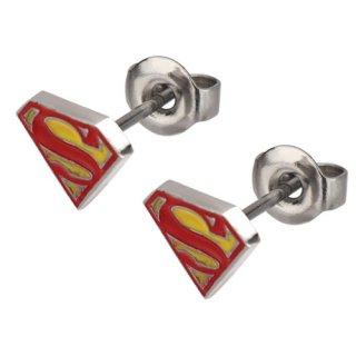 DCコミック スーパーマン ロゴスタッドピアス DC COMICS