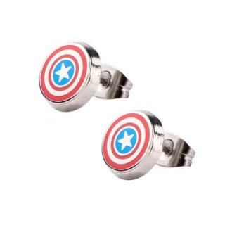 マーベル キャプテン・アメリカ シールド ロゴ スタッドピアス MARVEL