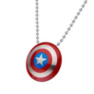 マーベル キャプテン・アメリカ シールド カラー ネックレス MARVEL