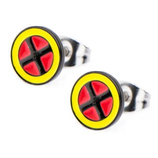 マーベル X-MEN ロゴ カラースタッドピアス MARVEL