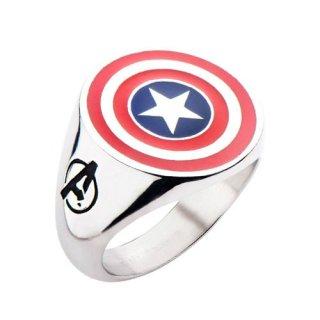 マーベル キャプテン・アメリカ シールド ロゴリング 指輪 MARVEL