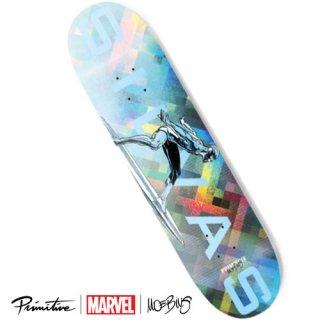 PRIMITIVE × MARVEL × MOEBIUS MILES SILVAS SILVER SURFER DECK シルバーサーファー スケートボードデッキ プリミティブ マーベル