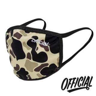OFFICIAL Crown of Laurel Face Mask Duck Camo Brown ファッション 布マスク カモブラウン オフィシャル