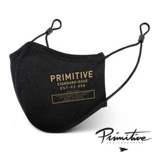 PRIMITIVE Standard MASK BLACK フェイスマスク スタンダード ブラック ファッション プリミティブ アルミ製ノーズブリッジ