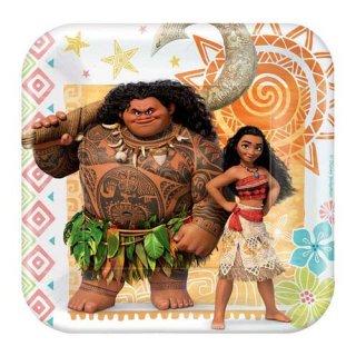 ディズニー モアナと伝説の海 8PCペーパープレート Sサイズ 紙皿 DISNEY