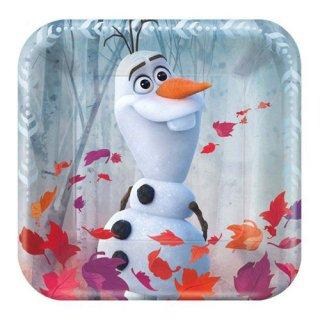ディズニー アナと雪の女王2 8PCペーパープレート Sサイズ 紙皿 メタリック DISNEY