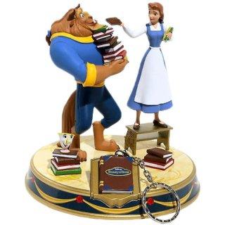ディズニー 美女と野獣 ベル&ビースト ミニファインダーズキーパー スタチュー 鍵置き DISNEY