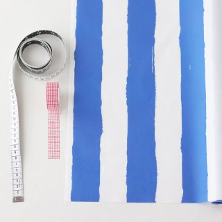ペンキで塗ったストライプ(ブルー)