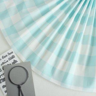 ベーシックギンガムチェック:4cm角(ライトブルー)