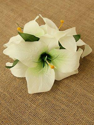 カサブランカヘアクリップ(ホワイト)