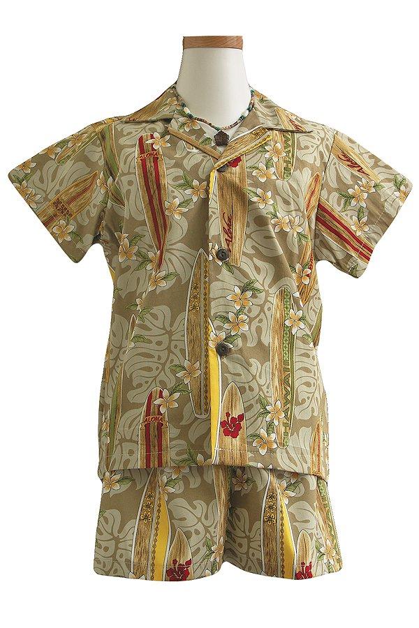 Boysアロハシャツスーツ(ボーダーズ・サンド)