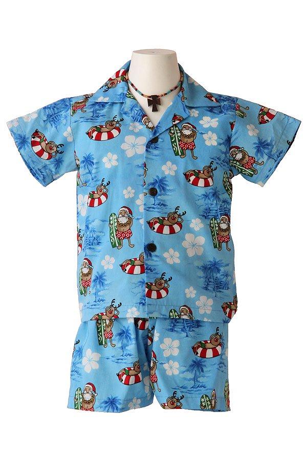 Boysアロハシャツスーツ(カリキマカ・ブルー)
