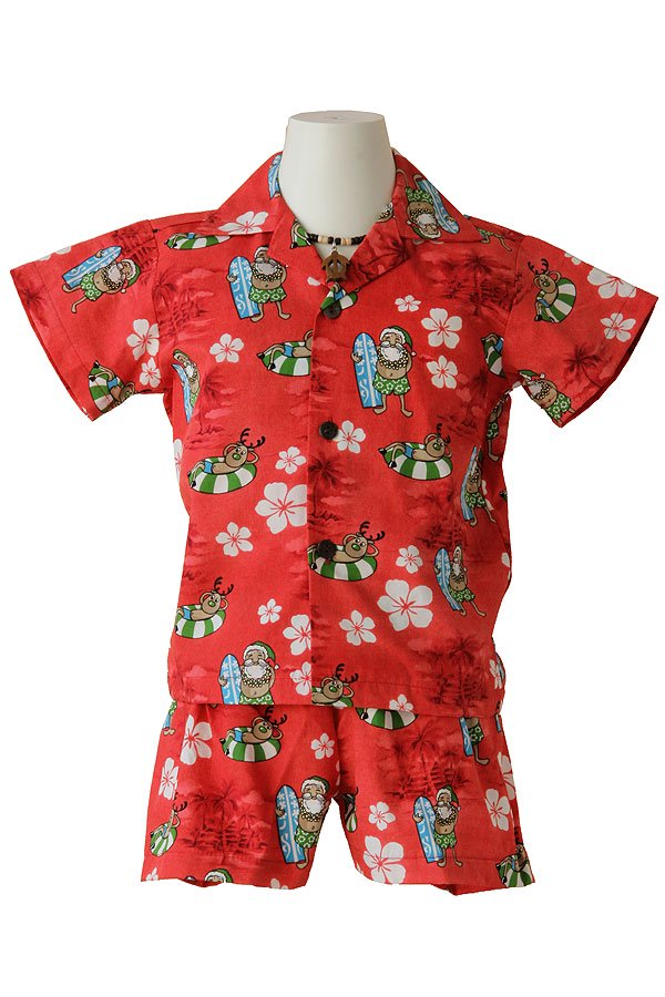 Boysアロハシャツスーツ(カリキマカ・レッド)
