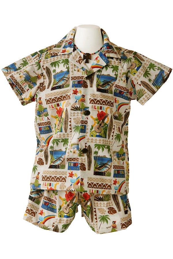 Boysアロハシャツスーツ(カウウェラ・ブラウン)