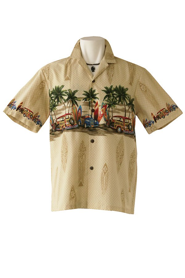 メンズアロハシャツ(クラシック・ベージュ)