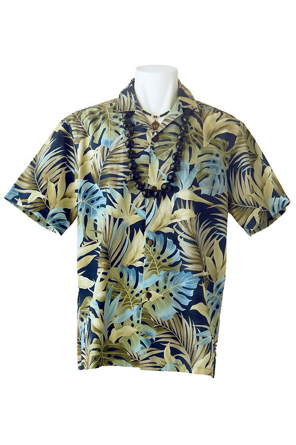メンズアロハシャツ(オヒオヒ・ネイビー)