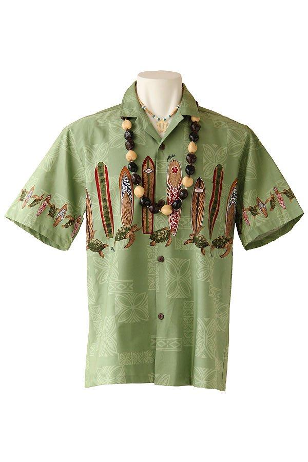 メンズアロハシャツ(ホヌサーフ・アイビー)