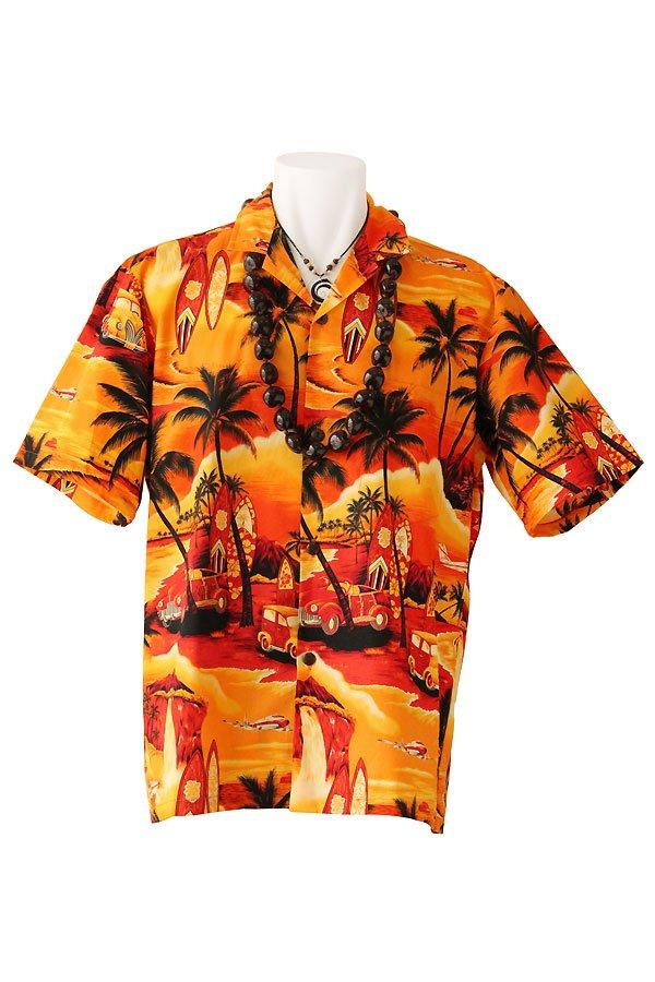 メンズアロハシャツ(サンセットビーチ)