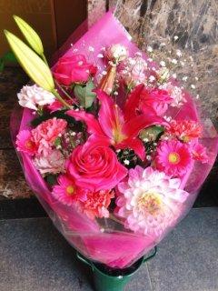 花束 ピンク系ミックス