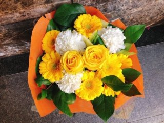 花束 黄色系 ブーケ