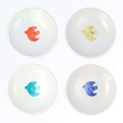 トリ豆皿 4pcsセット