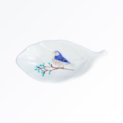 鳥と木葉[青]