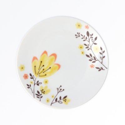 春花 銘々皿[黄]