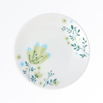春花 銘々皿[緑]